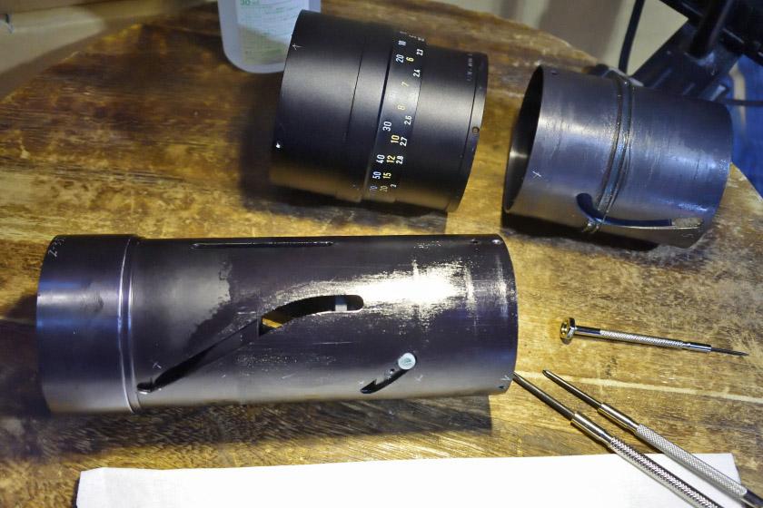 メイン鏡筒を分解します