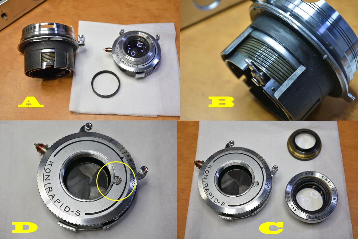 コニカⅡヘリコイド・レンズの清掃