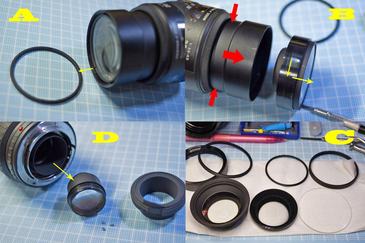 ペンタックス28-80mm分解