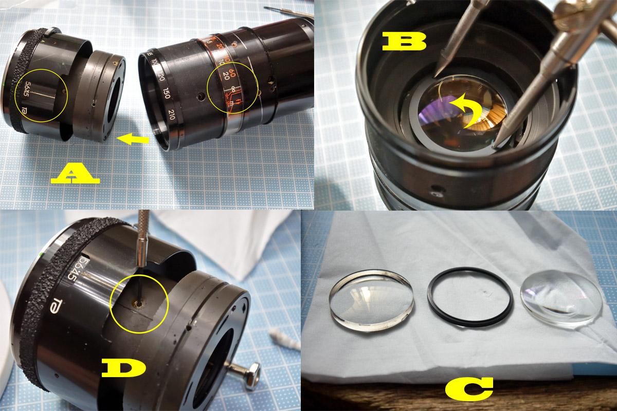 タムロンZ210鏡筒の分割
