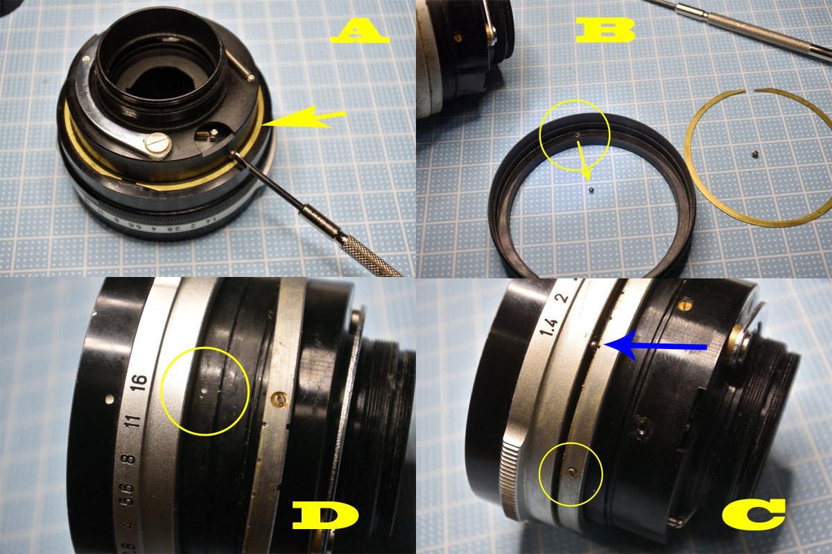 fl50f1.4鏡筒の分解