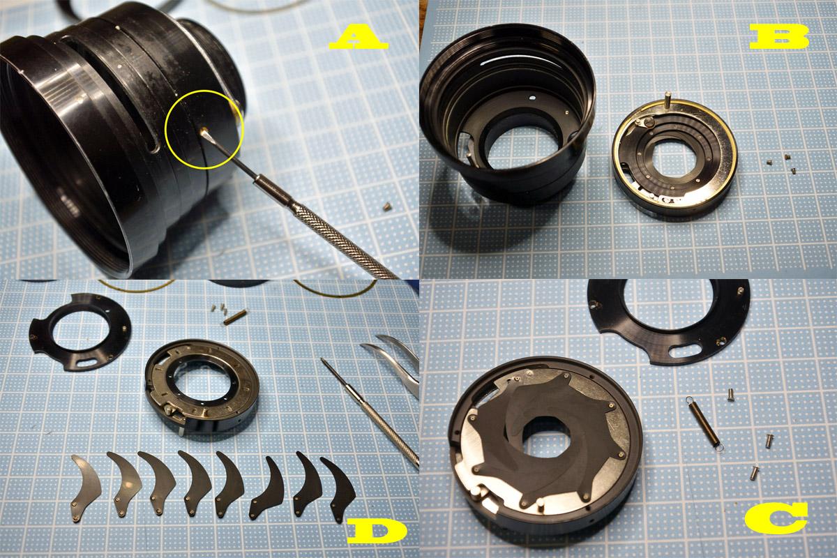 fl50f1.4絞りユニット修理