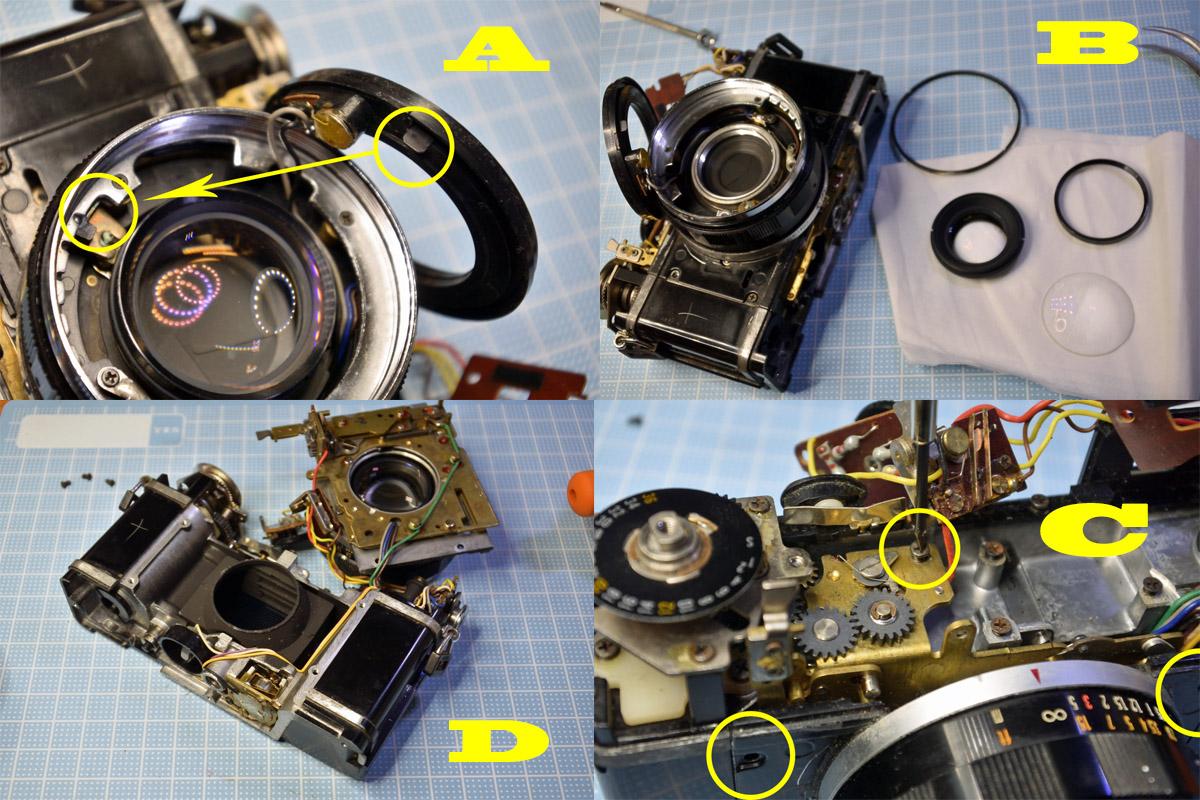 オリンパス35DC レンズ清掃