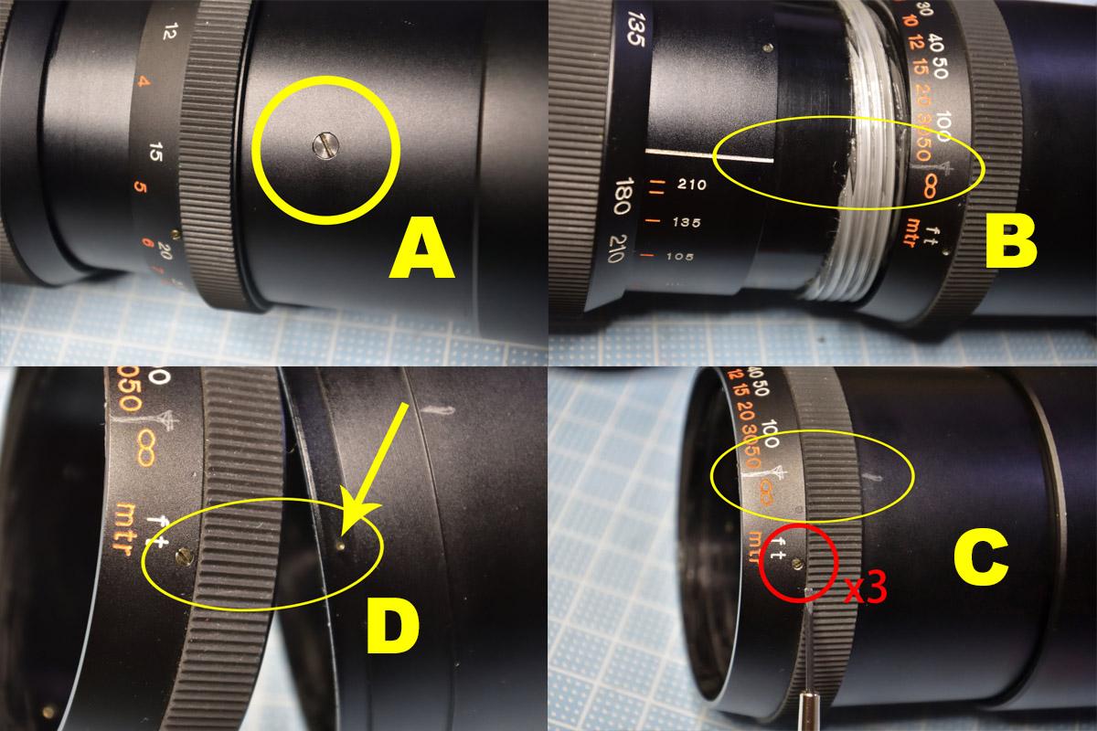 SUN 85-210mm F4.8分解清掃