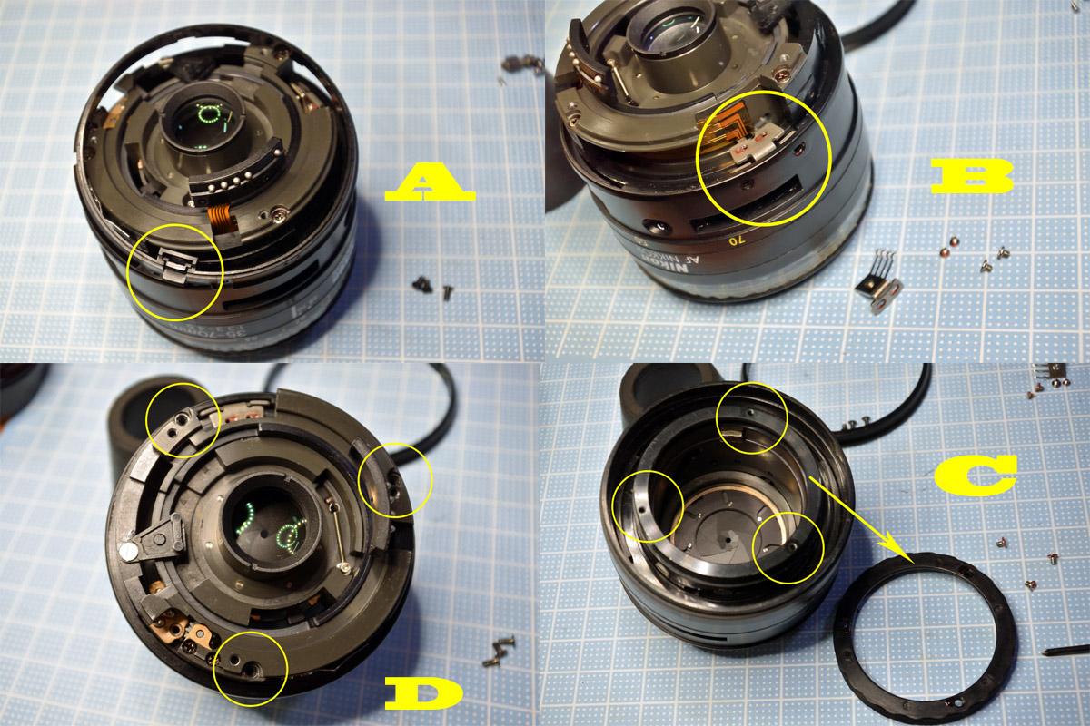 nikkor35-70mmマウント側分解