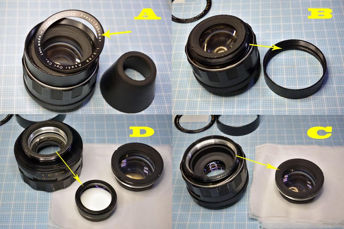 Super Takumar 55mm F2分解清掃