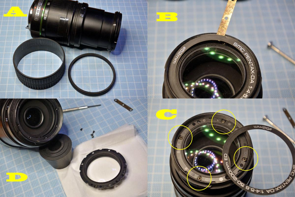PENTAX-DA 50-200mm分解・清掃