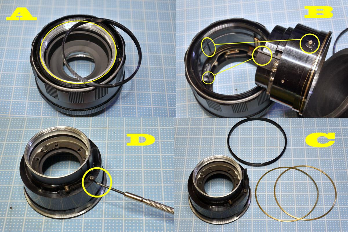 Super Takumar 55mm F2絞り清掃