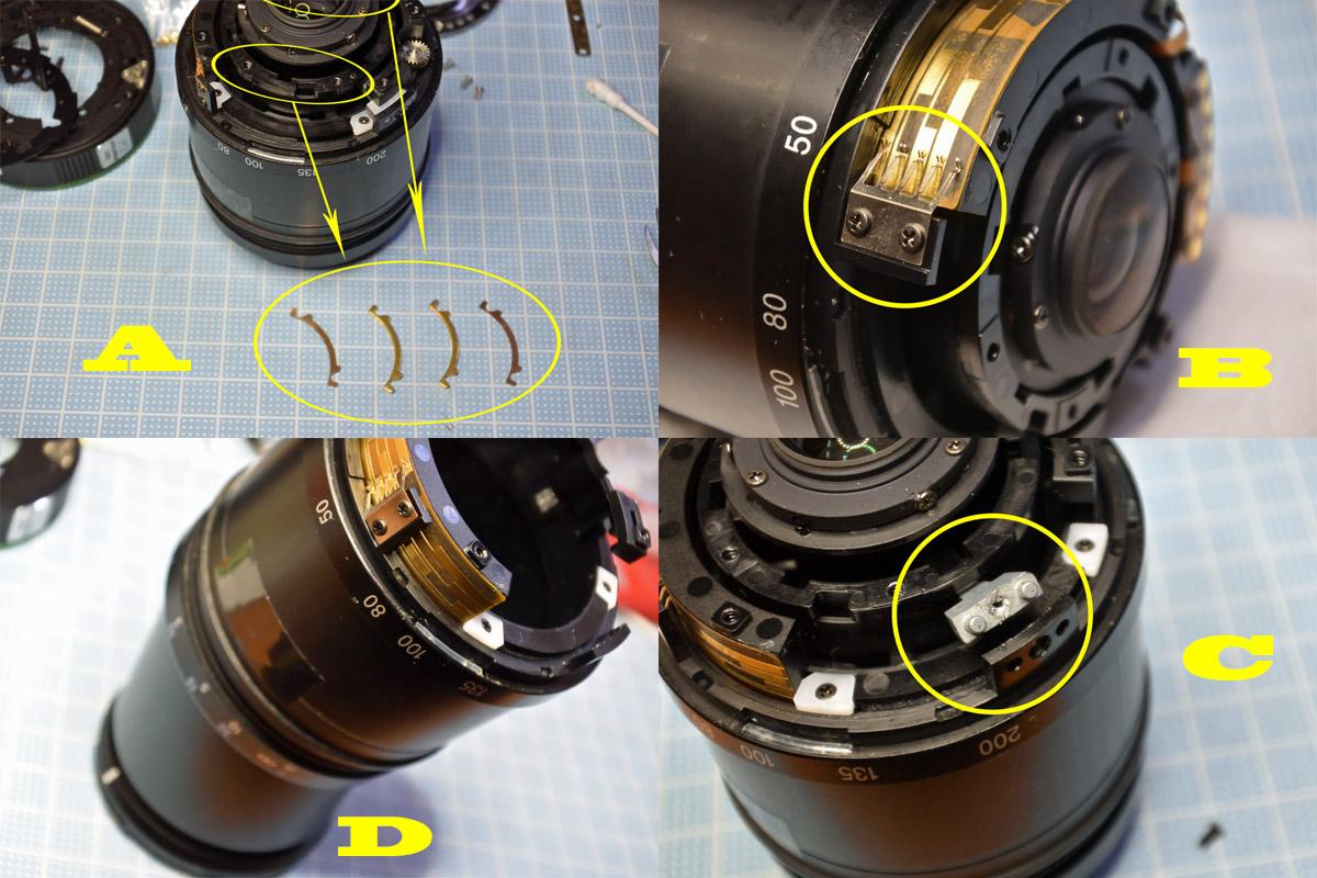 PENTAX-DA 50-200mm鏡筒の分解