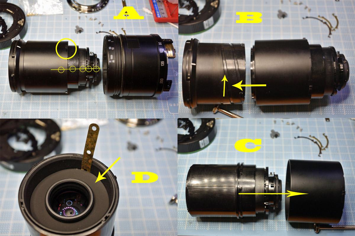 PENTAX-DA 50-200mm鏡筒の分解b