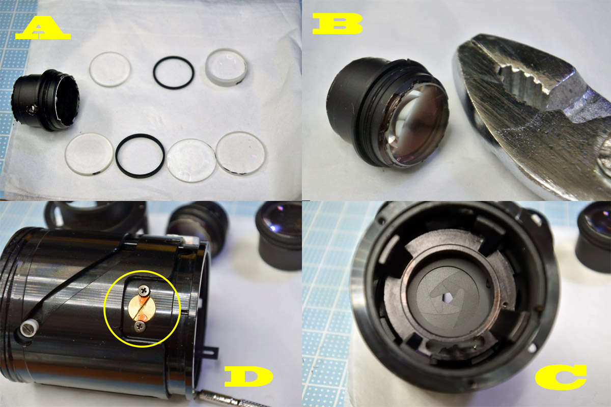 Pentaxzoom35-105中群レンズ清掃