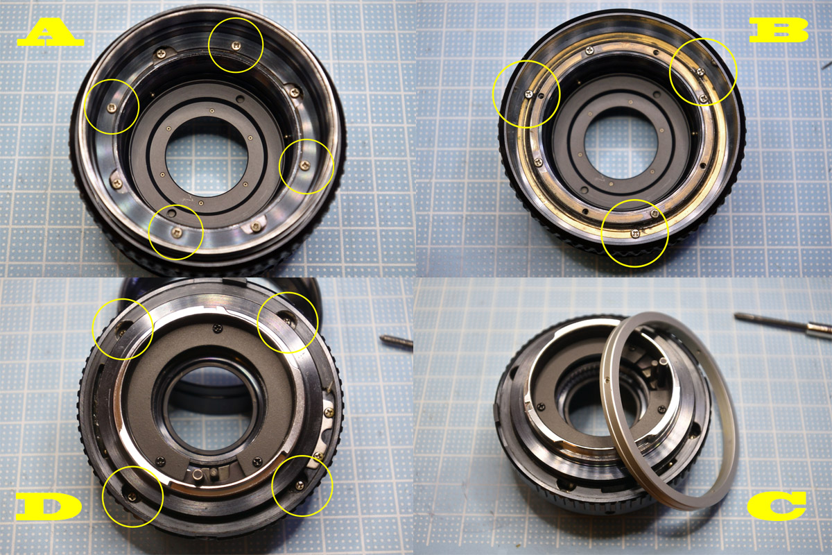 MC ROKKOR-PF 50mm f1.7鏡筒分解
