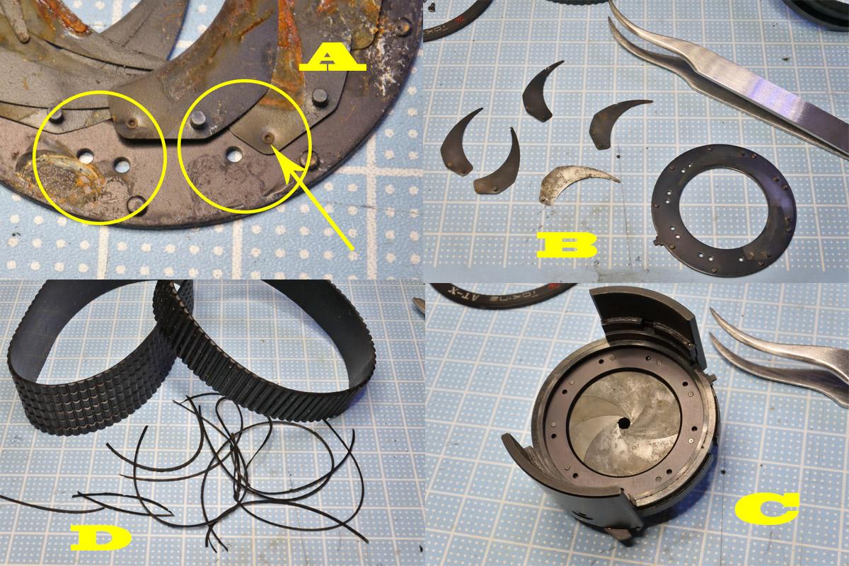 AT-X357 絞り羽根清掃