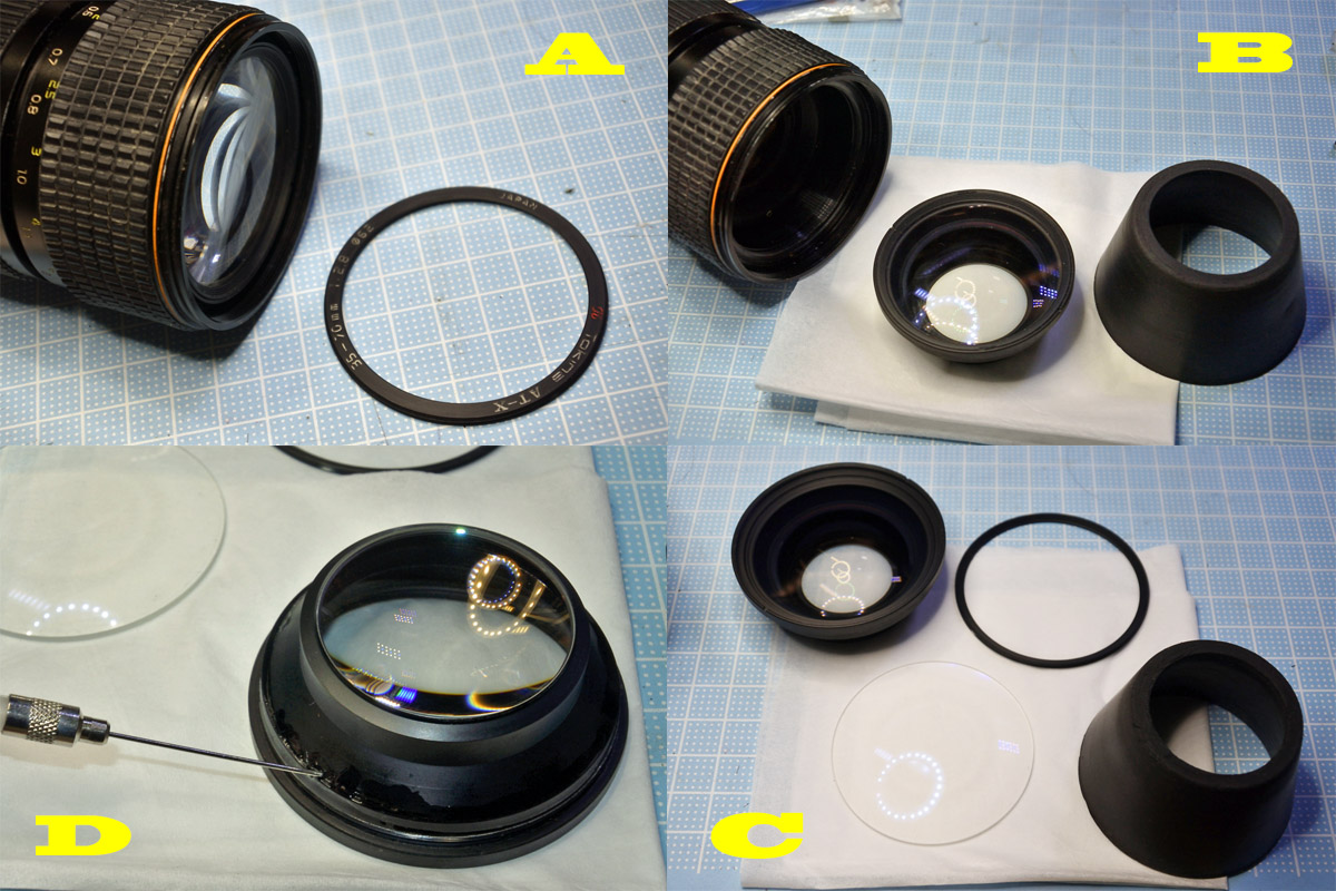 AT-X357 レンズ清掃