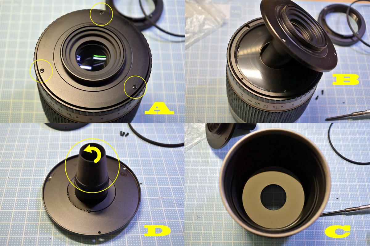 Kenko 500mm F8 後群レンズ清掃
