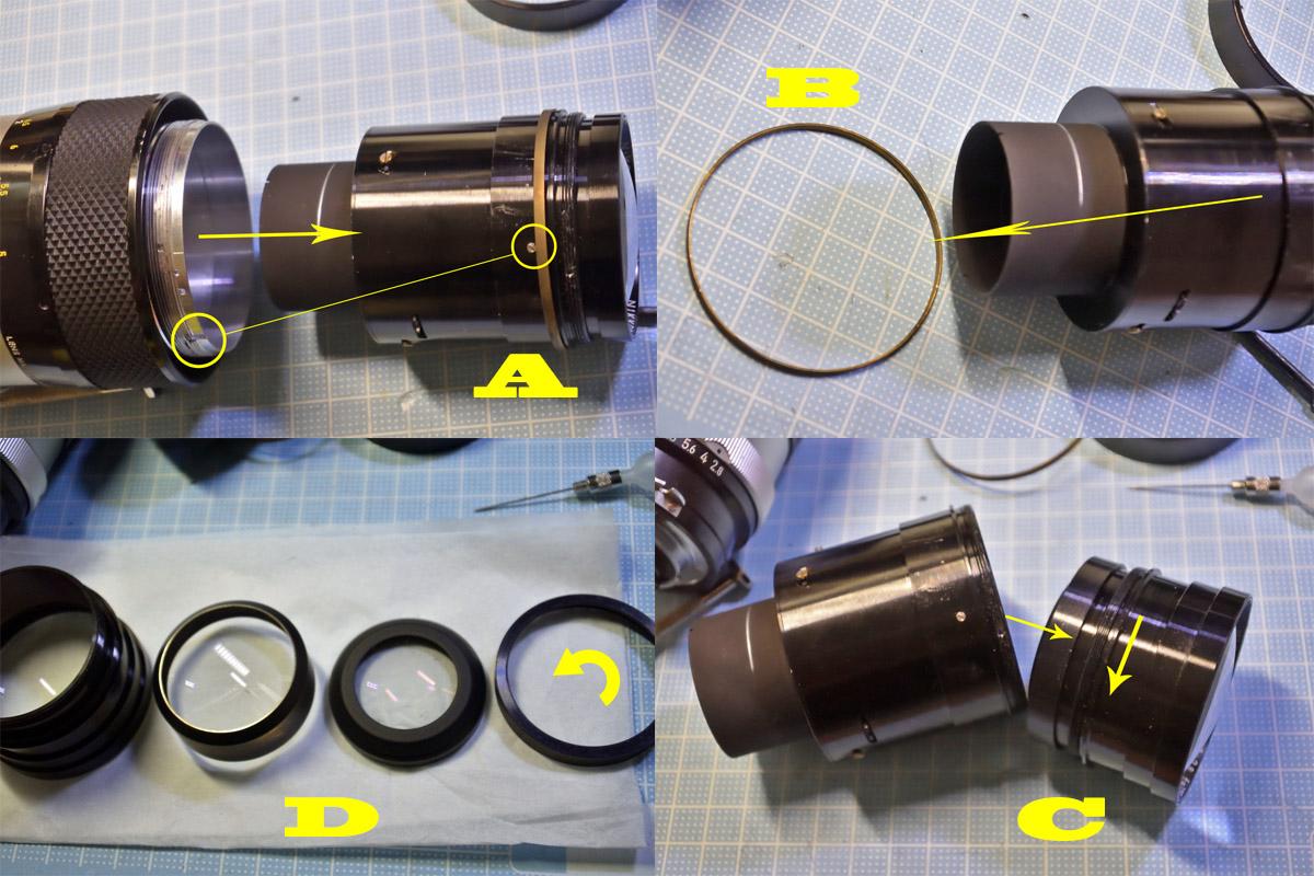 Nikkor-Q Auto 135mm F2.8レンズ清掃