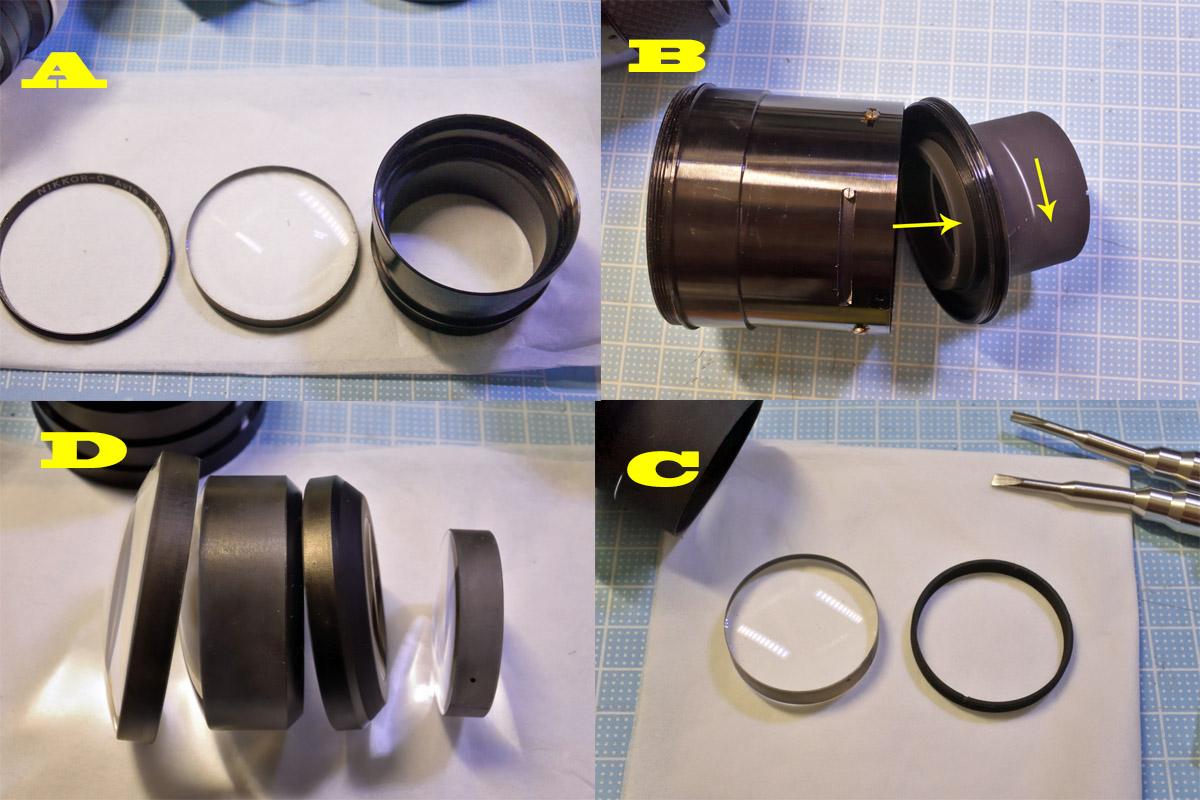 Nikkor-Q Auto 135mm F2.8レンズ清掃2