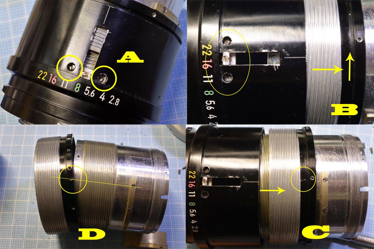 Nikkor-Q Auto 135mm F2.8ヘリコイド外し