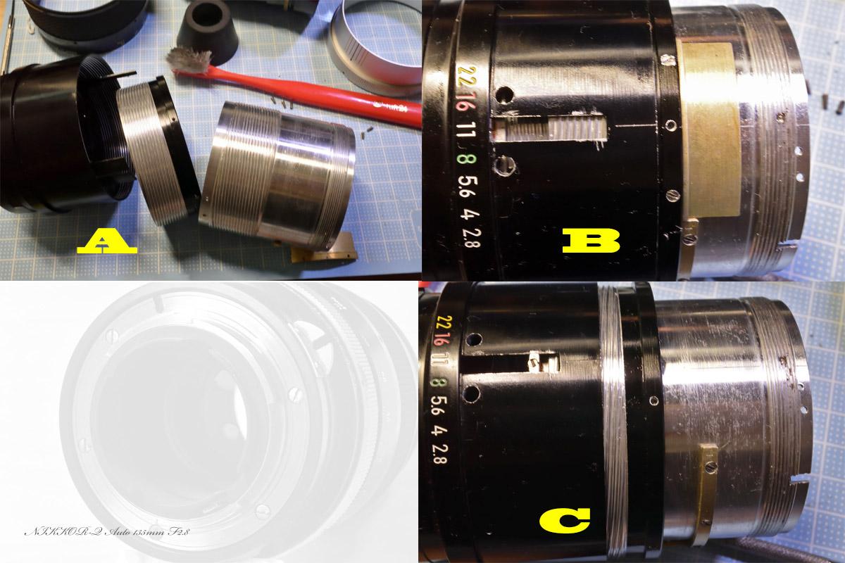 Nikkor-Q Auto 135mm F2.8ヘリコイドグリス交換